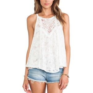 Free People | Miss Mackenzie Floral Lace Blouse